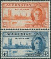 Ascension Island 1946 SG48-49 Victory Set MNH - Ascension