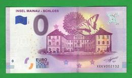 Euro SOUVENIR Notes € 0 INSEL MAINAU COSTANZA Bodensee CASTELLO SCHLOSS - Private Proofs / Unofficial