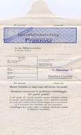 """GUERRE 39-45 INTERNIERTENPOST ITALIA """"CONSIGNES POUR L'ADRESSE COLIS Et COURRIER"""" - FRANZOSE - STAMMLAGER VB Villingen - Marcophilie (Lettres)"""