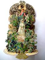 GRAND SOUVENIR DE COMMUNION 3 D.....1905.... A SYSTÈME ......5 PLANS      ......      H :21 Cm ...... ART NOUVEAU - Devotion Images