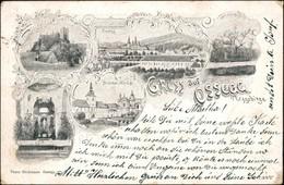 Postcard Osek Ossegg Mehrbildkarte - Kloster, Stadt 1904  - Tschechische Republik