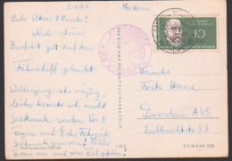 """Sassnitz Fähre Fährschiff Sassnitz-Trelloborg MS """"Sassnitz"""" Eisenbahnfährschiff Der Deutschen Reichsbahn, Postad Ombord - Maritiem"""