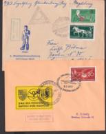 Segelflug Zwickau - Karl-Marx-Stadt 1957 Vignette, Blankenburg - Magdeburg 1958, Schmuckbrief - Transports