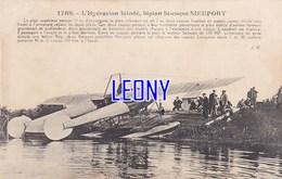 """CPA  """" HYDRAVION  BLINDE  BIPLAN BI-COQUE  NIEUPORT """" N° 1789-1916 - 1914-1918: 1st War"""