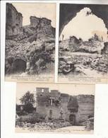 CPA France 02 - Coucy Le Château - 3 Cartes Ruines De La Grande Guerre :   Achat Immédiat - Weltkrieg 1914-18