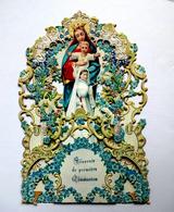 GRAND SOUVENIR DE COMMUNION 3 D.....1910.... A SYSTÈME ......3 PLANS      ......      H :18.5 Cm ...... MYOSOTIS - Devotion Images