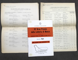 18° Gran Premio Lotteria Autodromo Di Monza - Formula 3 - 1976 - Regolamento - Altri
