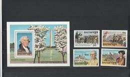 Bhutan G. Washington Set  MNH - George Washington