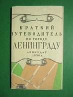 CLENINGRAD    USSR  Tourist Guide - Map  Y 1956 - Cartes