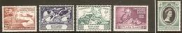 PITCAIRN ISLANDS 1949 UPU AND 1953 CORONATION SETS SG 13/17 UNMOUNTED MINT Cat £16.50 - Pitcairn Islands