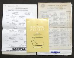 48° Gran Premio D'Italia Di Formula 1 - Autodromo Di Monza 1977 - Regolamento - Altri