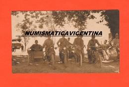 Moto Motorcycle Sidecar Sydecar Old Photo Militari Italiani Foto 1910 / 1920 - 1914-18