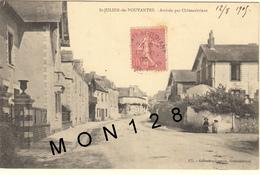 SAINT JULIEN DE VOUVANTES (44)  ARRIVEE PAR CHATEAUBRIANT - Saint Julien De Vouvantes