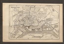 CARTE PLAN 1922 - ROCHEFORT - ARSENAL SALLE D'ARMES PORT MILITAIRE De COMMERCE MUSEE Des MODELES FOSSE Aux MATS - Topographische Karten