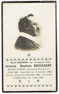 Eerw. Pater Joannes Baptista Bouckaert - Geb. Oyghem 1884 - Overl. Roeselaere 1925 - Overlijden