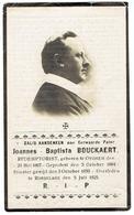 Eerw. Pater Joannes Baptista Bouckaert - Geb. Oyghem 1884 - Overl. Roeselaere 1925 - Décès