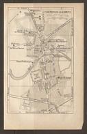 CARTE PLAN 1922 - FONTENAY Le COMTE - CASERNE D'INFANTERIE PONT Des SARDINES MUSEE MOUILLEBERT - Topographical Maps