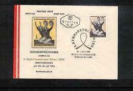 Austria / Oesterreich 1965 Gymnastics Gymnaestrada Wien Interesting Cover - Gymnastik
