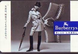 Télécarte Japon * ANGLETERRE * ENGLAND * MODE ANGLAISE * BURBERRYS Of LONDON FEMME (387) GREAT BRITAIN * Phonecard Japan - Mode