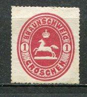 BRUNSW - Yv. N° 13 Mi. N°18  Percé En Scie  (*)  1g   Rose   Cote  3 Euro  BE  2 Scans - Braunschweig