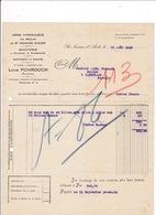 Facture 1932 Minoterie Raffinerie De Soufre Usine Hydraulique Du Moulin De St-Nazaire-d'Aude, Louis Ponrouch, - Agriculture