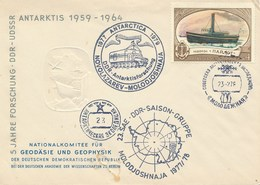 UdSSR Mi.4558 Eisbrecher Pailot Stempel 1978 Antarktisstation Molodeschnaja 2x DDR -Stempel Antarktisforschung - Forschungsstationen