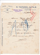 Courrier 1932 Grains Pailles Fourrages R. Taparel & Fils, Pexiora, Aude - Agriculture