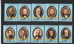 Liberia The Presidents Of USA Set MNH - George Washington