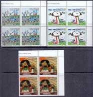 2010 Kuwait Anniversary Of The Liberation Day Complete Set 3 Values (Block Of 4 Corner) MNH - Kuwait