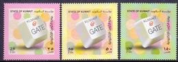2010 Kuwait Electronic Portal Complete Set 3 Values MNH - Kuwait