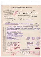 Facture 1951 Entreprise Bâtiments Thomas Frères, 40 Avenue De Dunkerque, Lille - Other