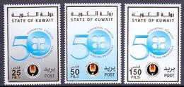 2010 Kuwait OPEC 50 Years Complete Set 3 Values MNH - Kuwait