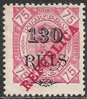 Angola – 1915 King Carlos Overprint REPUBLICA - Angola