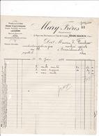 Facture 1922 Houes Limonières Meules Mary Frères, 2 Place Des Marronniers, 1 Rue De Crosses, Bourges, Cher - Agriculture