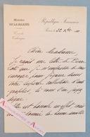 L.A.S 1910 Vice Amiral René Julien MARQUIS Sur Une Lettre Autographe De Pierre LOTI - Né à Rochefort Charente Maritime - Autographes