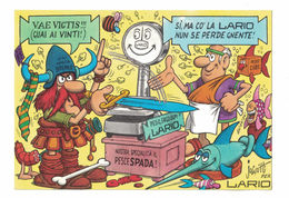 CARTOLINA POSTALE CARTE POSTALE LARIO BILANCE  Illustratore JACOVITTI - Pubblicitari