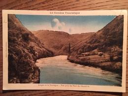 CPA, La Corrèze Touristique, 19, Gorges De La Dordogne, Vue Prise Du Pont Du Chambon, écrite - Unclassified