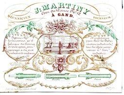 Gent: Porseleinkaart 13 X 10 Cm  Martiny Tourneur - Cartes Porcelaine