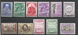 Vaticano. Lote De 11 Sellos Años 60 - Sellos