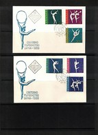 Bulgaria 1969 Michel 1941-46 World  Gymnastics Championship Interesting Covers FDC - Gymnastik