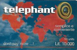 ITALIA -CARTA PREPAGATA- TELEPHANT - Schede GSM, Prepagate & Ricariche