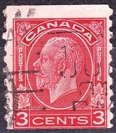 CANADA 1933 KGV 3c Scarlet Coil Stamp SG328 Fine Used - 1911-1935 Reign Of George V