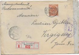 1915 - NED.INDIE - ENVELOPPE RECOMMANDEE Avec CENSURE FRANCAISE De BIJK.KARANGTOERI (SEMARANG) => VERGIGNY - Nederlands-Indië