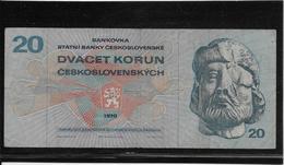 Tchécoslovaquie - 20 Korun - Pick N°92 - TTB - Tschechoslowakei