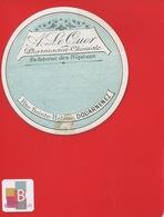 DOUARNENEZ Rue Sainte Hélène Pharmacien LE QUER   ETIQUETTE ANCIENNE  Pharmacie  CIRCA 1900 - Etichette