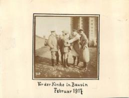 BAUVIN 1917 PHOTO ALLEMANDE COLLEE SUR CARTON FORMAT  DE LA PHOTO 6 X 6 CM - France
