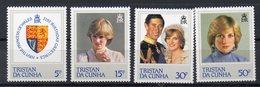 TRISTAN DA CUNHA  Timbres Neuf ** De 1982   ( Ref 553 F )  Famille Royale - Lady Diana - Tristan Da Cunha