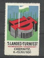 Germany 1930 Reklamemarke Landes-Turnfest Chemnitz (*) - Vignetten (Erinnophilie)