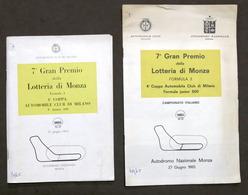 7° Gran Premio Lotteria Autodromo Di Monza - Formula 3 - 1965 - Regolamento - Altri