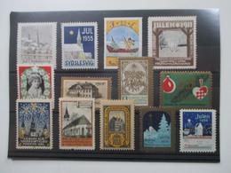 Dänemark 1911 - 59 Jul Marken / Reklamemarken Sydslesvig / Julen Aalborg Alm Usw. Ungebraucht Aber Auch ** - 1913-47 (Christian X)